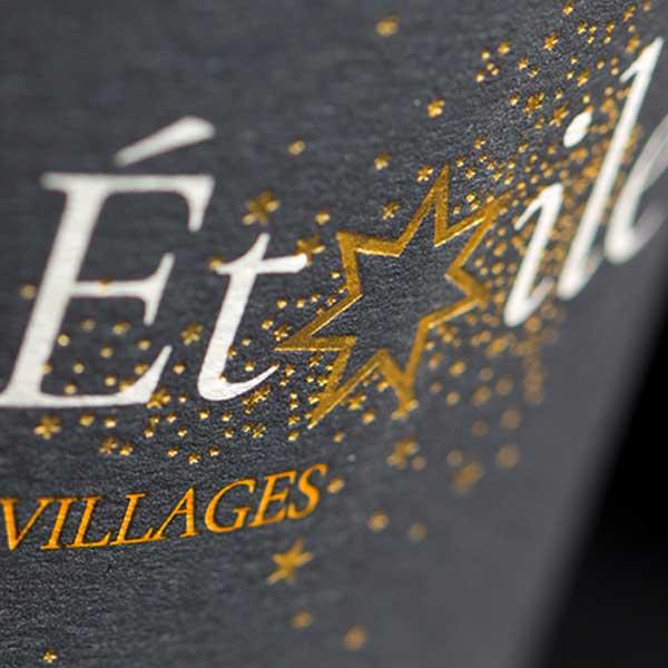 Étiquette Côtes-du-Rhône Villages Visan, Ciel étoilé, vin Bio Vaucluse.