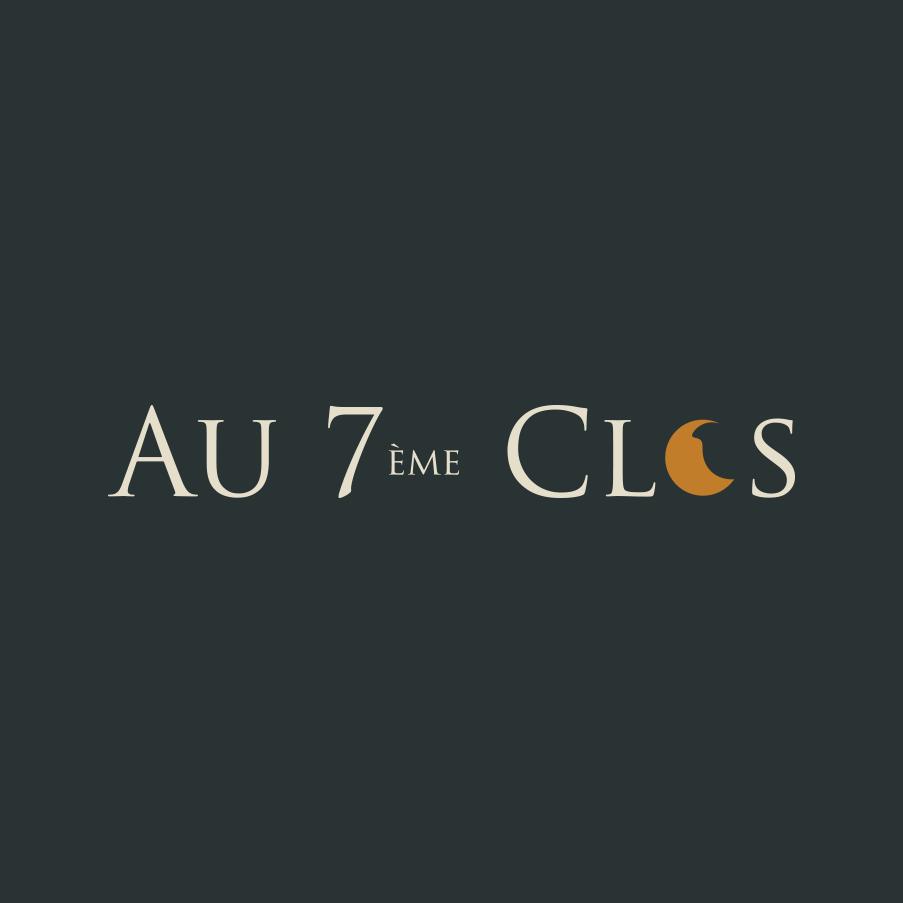 Logo au 7ème Clos, domaine à Visan, dans le Vaucluse, Vins Bio.