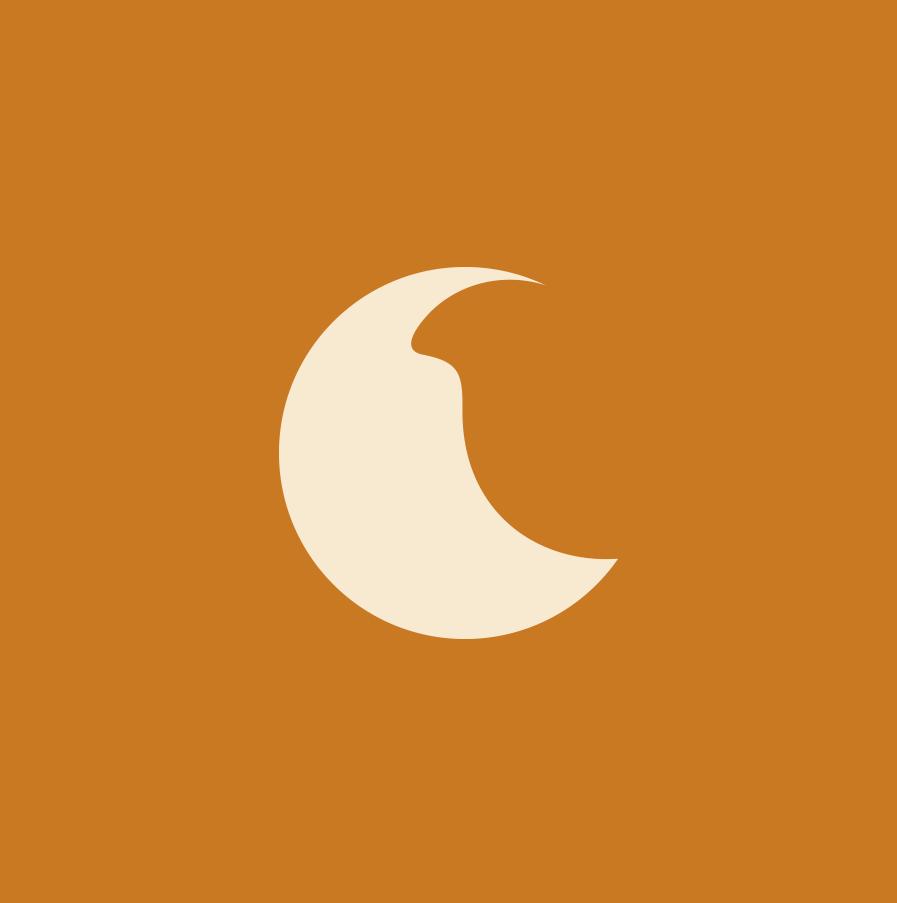 Lune sur carré de couleur pour le Domaine viticole Bio à Visan dans le Vaucluse, Au 7ème Clos.