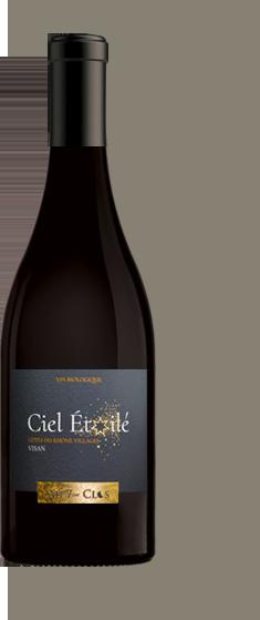Bouteille de vin Ciel étoilé, vin rouge biologique à Visan, Côtes-du-Rhône Villages Visan.