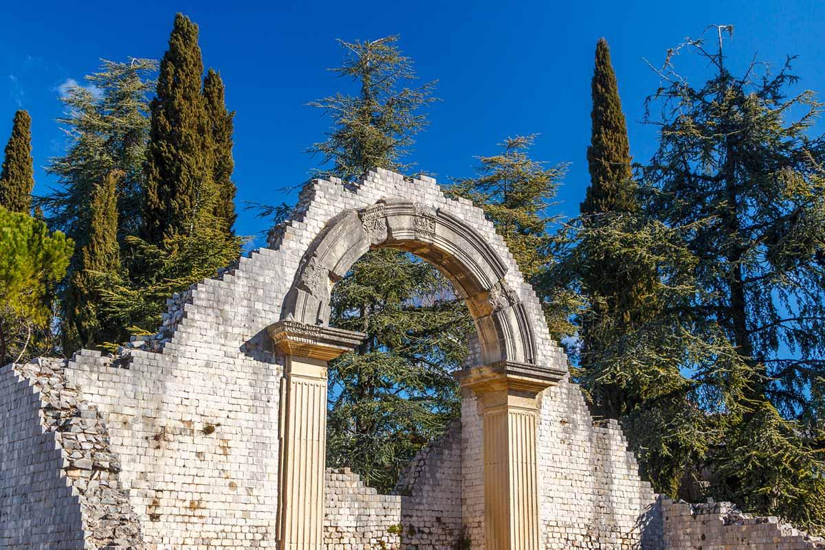 Vaison-la-Romaine, à la ronde du Domaine viticole Au 7e clos.