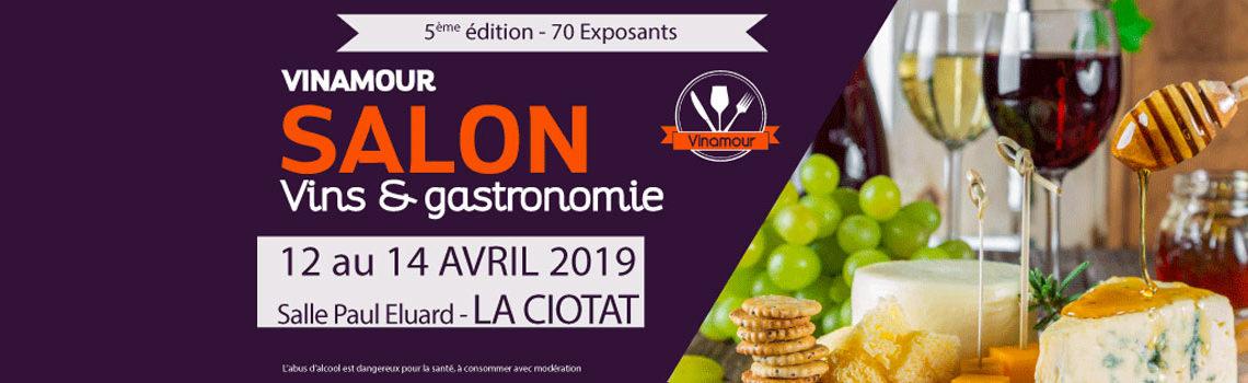 Le domaine viticole biologique Au 7e Clos à Visan est au salon Vinamour, Salon 2018 vins & gastronomie» à La Ciotat.